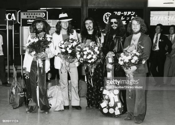 Jethro Tull welcome photo at Haneda Airport July 1972 Tokyo Japan Ian Anderson Martin Barre Jeffrey Hammond Barriemore Barlow John Evan