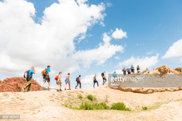jeti-oguz gorge in kyrgyzstan - soil erosion stock photos and pictures