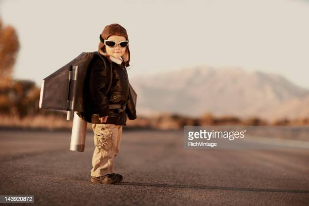 jetpack kid - copyright stock photos and pictures