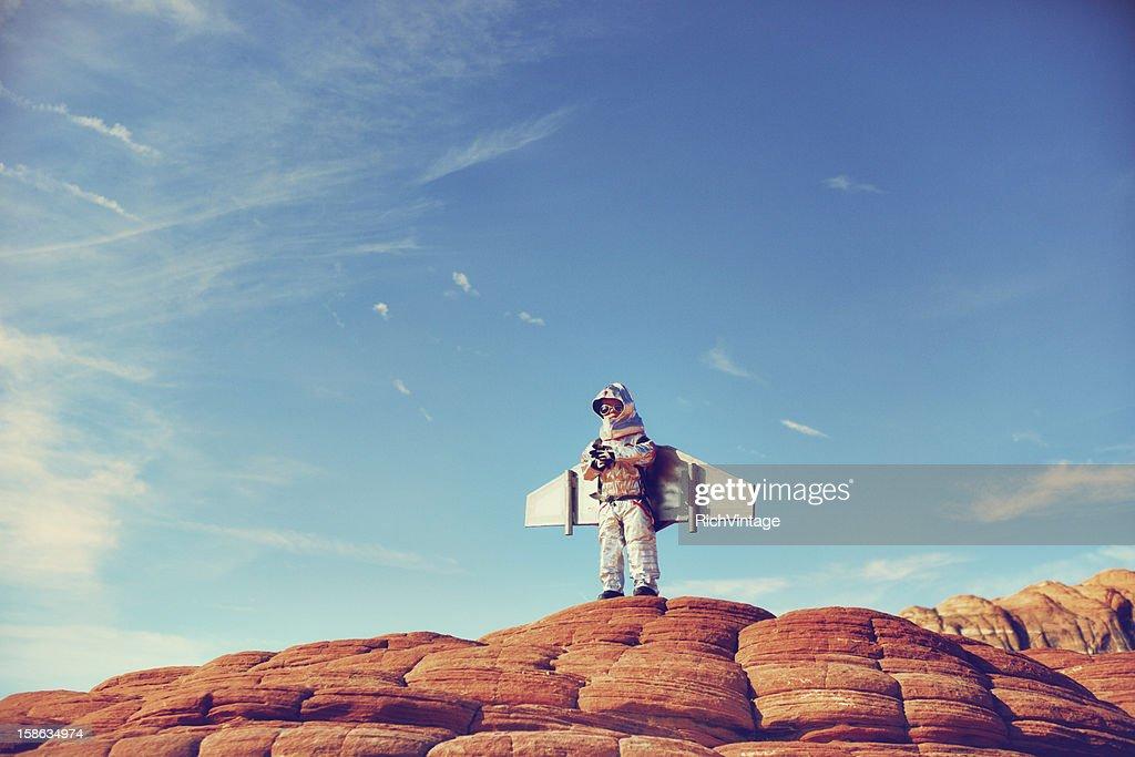 Jetpack Kid : Stock Photo