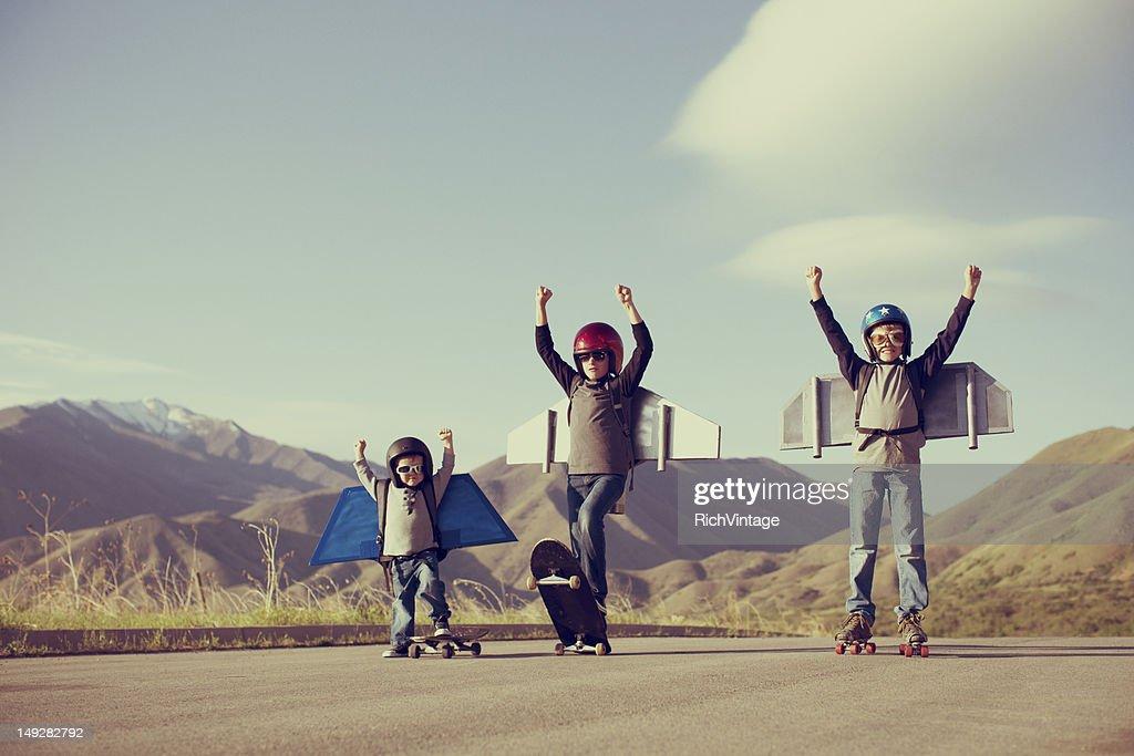 Jetpack Kids : Stock Photo