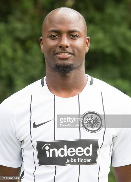 Jetro Willems of Eintracht Frankfurt poses during the team presentation at on August 4 2017 in Frankfurt am Main Germany
