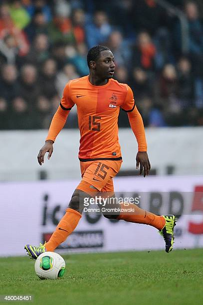 Jetro Willems of Netherlands controls the ball during the International Friendly match between the Netherlands and Japan on November 16 2013 in Genk...