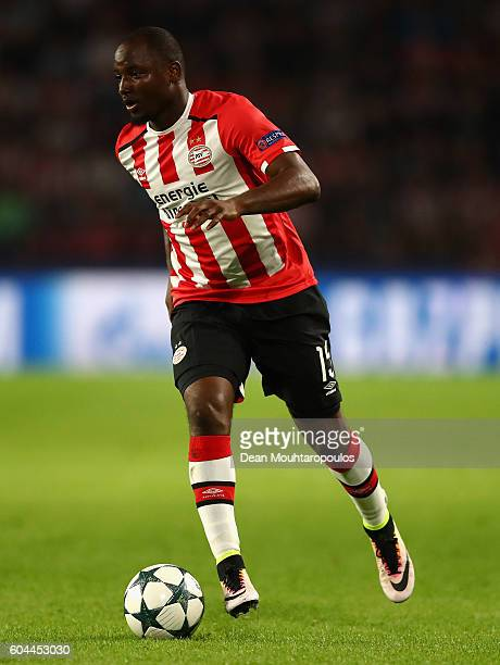Jetro Willems of PSV Eindhoven in action during the UEFA Champions League Group D match between PSV Eindhoven and Club Atletico de Madrid at Philips...