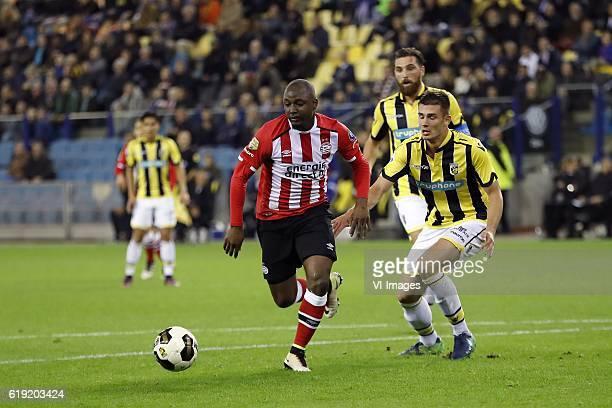 Jetro Willems of PSV Guram Kashia of Vitesse Matt Miazga of Vitesseduring the Dutch Eredivisie match between Vitesse Arnhem and PSV at Gelredome on...