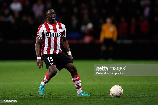 Jetro Willems of PSV in action during the UEFA Europa League Group F match between PSV Eindhoven and AIK Solna at the Philips Stadion on October 25...
