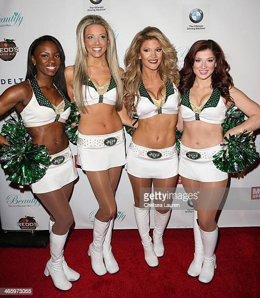 Jets cheerleaders Flight Crew attend the Friars Club Roast honoring Boomer Esiason at The Waldorf=Astoria on January 30 2014 in New York City
