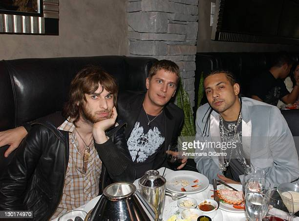Jet's Chris Cester with Rob Thomas and Sean Paul during 33rd Annual American Music Awards Atlantic Records After Party at Mastro's Steakhouse in...