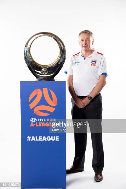 Jets coach Ernie Merrick poses during the ALeague Media Day on September 26 2017 in Sydney Australia