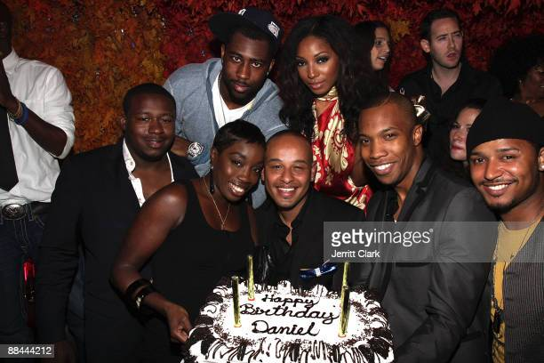 Jets Cornerback Darrelle Revis William Benson Singer Estelle Daniel Dejene Wynter Gordon AJ Crimson and Carlos Jahsir attend The Dejene Agency launch...