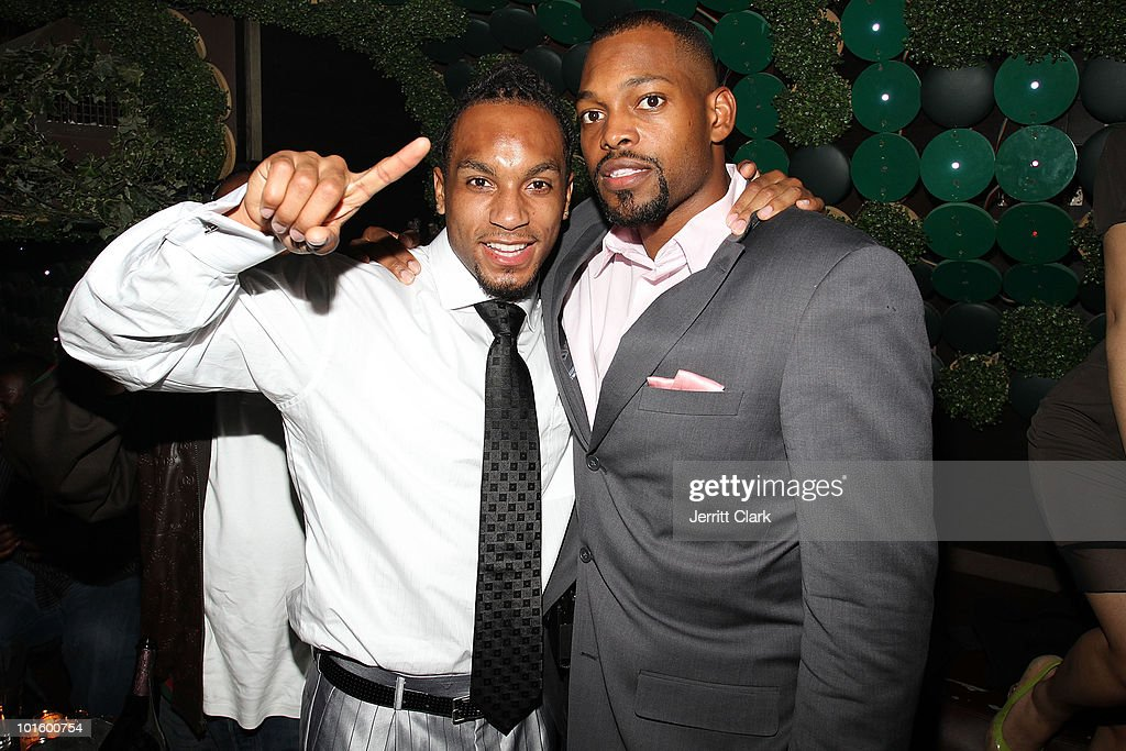 NY Jets Draft Pick Kyle Wilson and Sports Agent Chafie Fields attend The Official After Party For Earth Day New York at Greenhouse on April 22, 2010 in New York City.