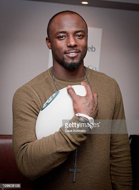 Jets football player Santonio Holmes attends a party at The Parlour Midtown on March 10 2011 in New York City