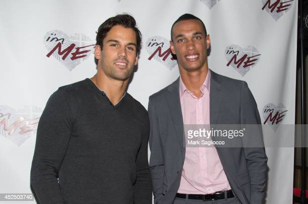 Jets Football Players Eric Decker and David Nelson attend i'mME Launch Event at Hotel Chantelle on July 21 2014 in New York City