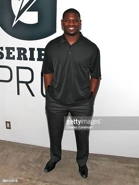 Jets running back Ladainian Tomlinson attends the launch of G Series Pro by Gatorade at 40 Renwick Street on April 13 2010 in New York City