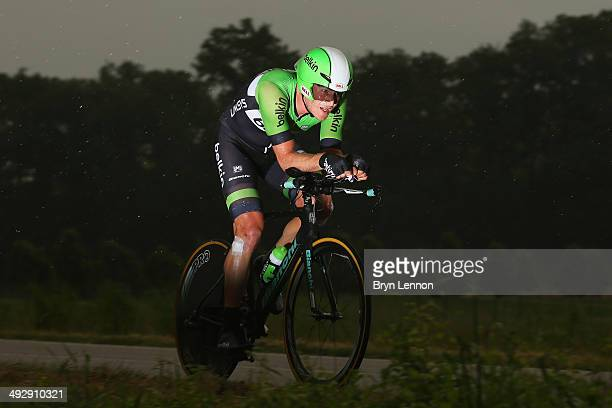 Jetse Bol of the Netherlands and Belkin in action during the twelfth stage of the 2014 Giro d'Italia a 42km Individual Time Trial stage between...