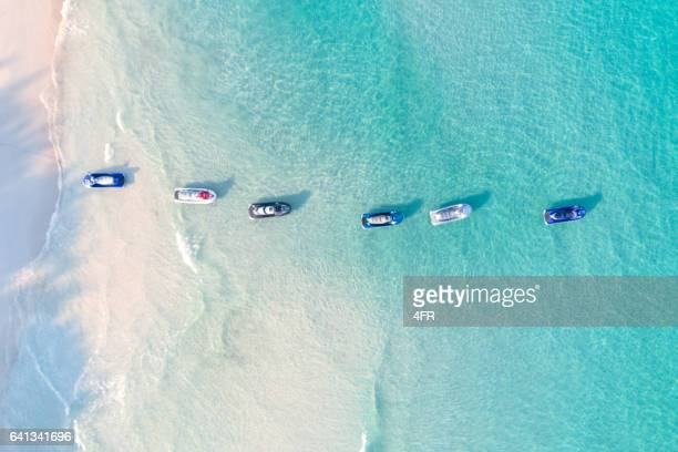 jetski, bird's-eye view, thailand - jet ski stock pictures, royalty-free photos & images