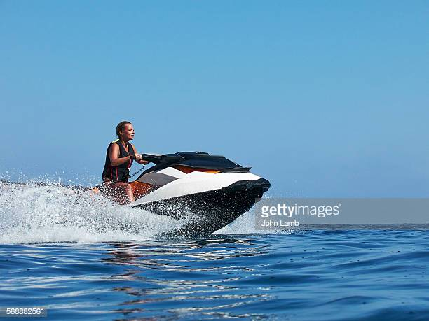 jetski speed - jet ski stock pictures, royalty-free photos & images