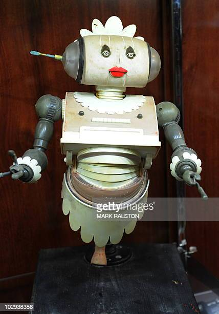 A Jetsons Rosie the Robot maquette that will soon be auctioned by Heritage Auction Galleries is displayed in Beverly Hills on July 16 2010 The...