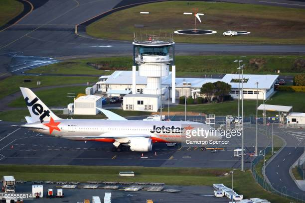 Jetstar plane on the Tarmac at Gold Coast Airport on April 7 2017 in Gold Coast Australia The 2018 Commonwealth Games will be held on the Gold Coast...