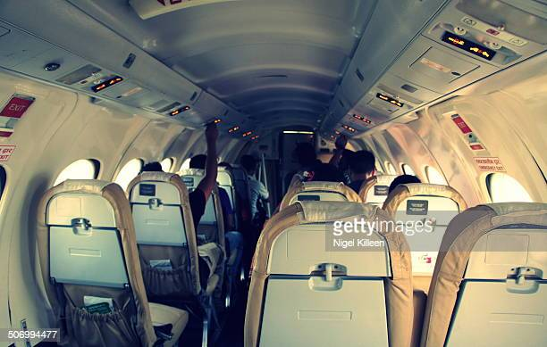 jetstream 41 aircraft interior - jetstream stock pictures, royalty-free photos & images