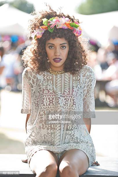 Jetta poses backstage at Wireless Festival at Finsbury Park on July 6 2014 in London United Kingdom