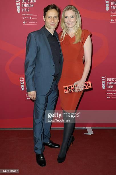 Jette Joop and Christian Elsen attend at 'Deutscher Gruenderpreis 2012' at Zollernhof ZDF on June 26, 2012 in Berlin, Germany.