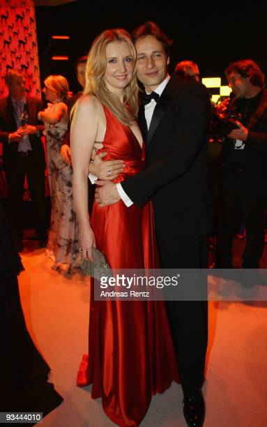 Jette Joop and Christian Elsen attend the Bambi Awards 2009 after show party at the Metropolis Hall at the Filmpark Babelsberg on November 26, 2009...