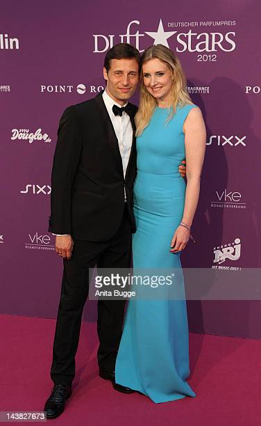 Jette Joop and Christian Elsen attend the 'Duftstars Awards 2012' at Tempodrom on May 4, 2012 in Berlin, Germany.