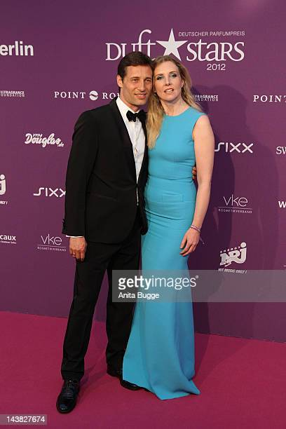 Jette Joop and Christian Elsen attend the 'Duftstars Awards 2012' at Tempodrom on May 4 2012 in Berlin Germany