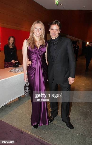 Jette Joop and Christian Elsen attend the 'Innocence In Danger' Photocall and Reception on November 22, 2009 in Berlin, Germany.