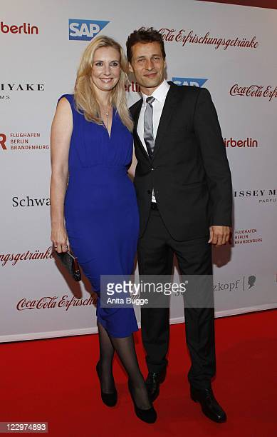 Jette Joop and Christian Elsen attend the Victress Gala 2011 at Meilenwerk on August 29 2011 in Berlin Germany