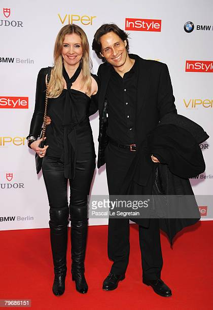 Jette Joop and Christian Elsen attend the Viper Awards at the Palais am Festungsgraben on February 8 2008 in Berlin Germany