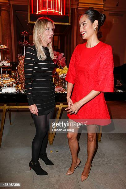 Jette Joop and Emma HemingWillis attend the ReOpening of the 'La Banca' restaurant at Hotel de Rome on November 05 2014 in Berlin Germany