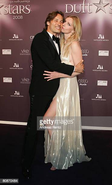 Jette Joop and her friend Christian Elsen attend the 'Duftstars' Award 2008 at the 'The Station' on April 26, 2008 in Berlin, Germany.
