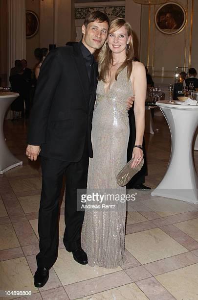 Jette Joop and her husband Christian Elsen attend the Prix Montblanc 2010 at Konzerthaus am Gendarmenmarkt on October 6 2010 in Berlin Germany