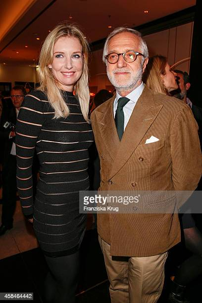 Jette Joop and Josef Voelk attend the ReOpening of the 'La Banca' restaurant at Hotel de Rome on November 05 2014 in Berlin Germany