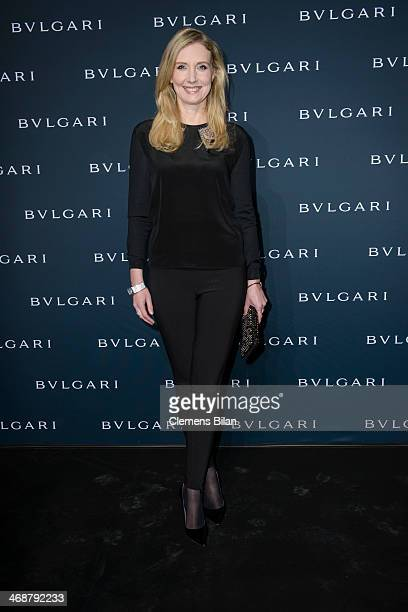 Jette Joop attends the 130 years of glam culture party by Bulgari at Kaufhaus Jandorf on February 11 2014 in Berlin Germany