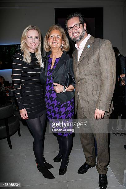 Jette Joop Christel Heilmann and her son attend the ReOpening of the 'La Banca' restaurant at Hotel de Rome on November 05 2014 in Berlin Germany