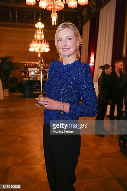 Jette Joop presents her award at the Look Women of the Year Awards at City Hall on November 30 2016 in Vienna Austria