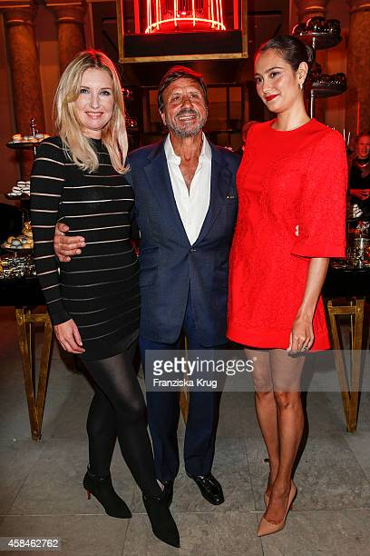 Jette Joop Sir Rocco Forte and Emma HemingWillis attend the ReOpening of the 'La Banca' restaurant at Hotel de Rome on November 05 2014 in Berlin...