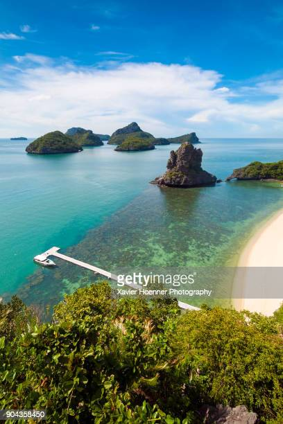 jetty and islets | koh samui - ko samui stock photos and pictures