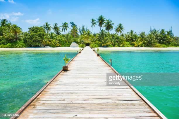 terminal de canareef resort maldivas, herathera ilha, addu atoll, maldives - idílico - fotografias e filmes do acervo