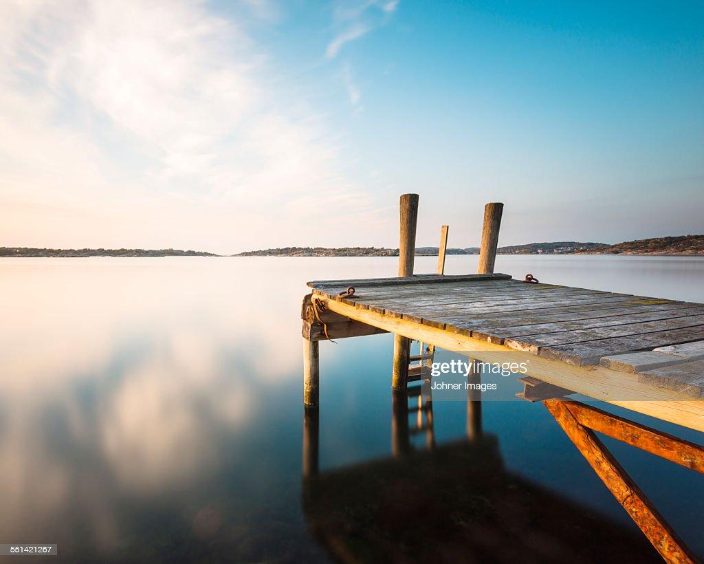 Jetty at lake : Stock Photo