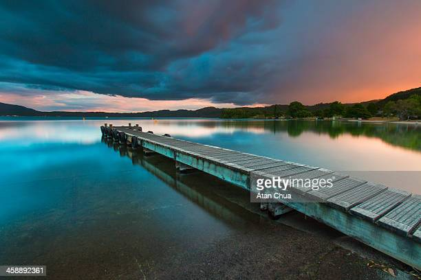 Jetty at Lake Tarawera, New Zealand