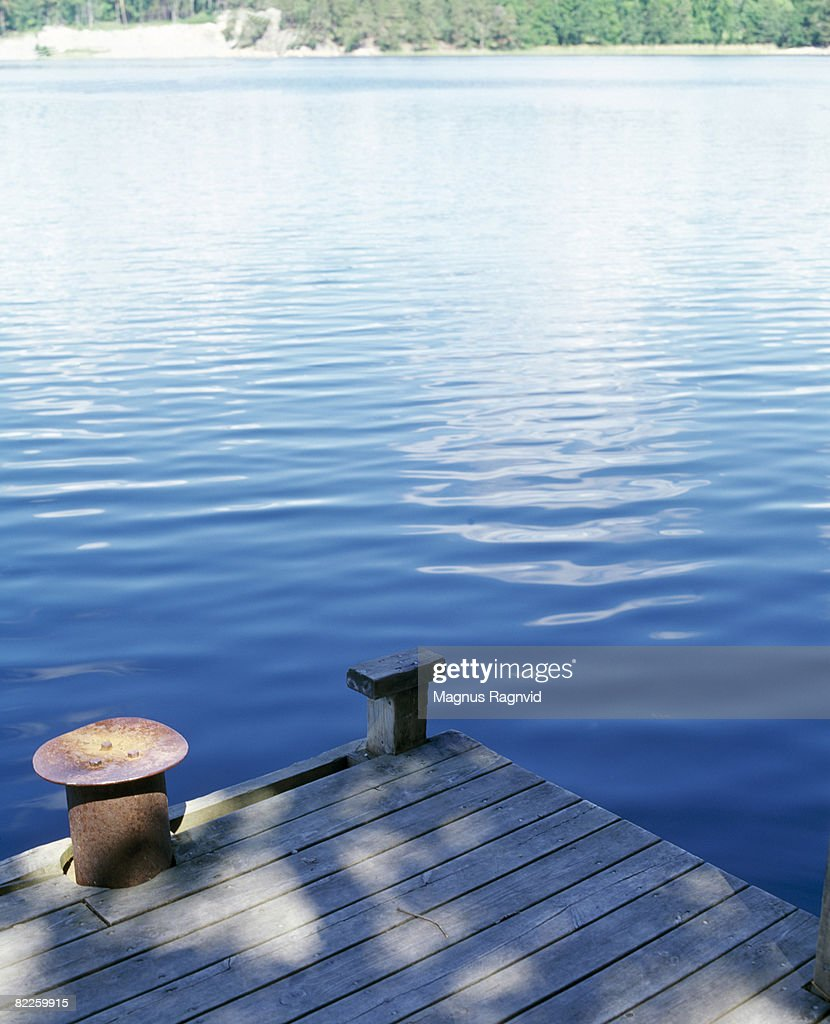 Jetty by a lake Sweden. : Stock Photo