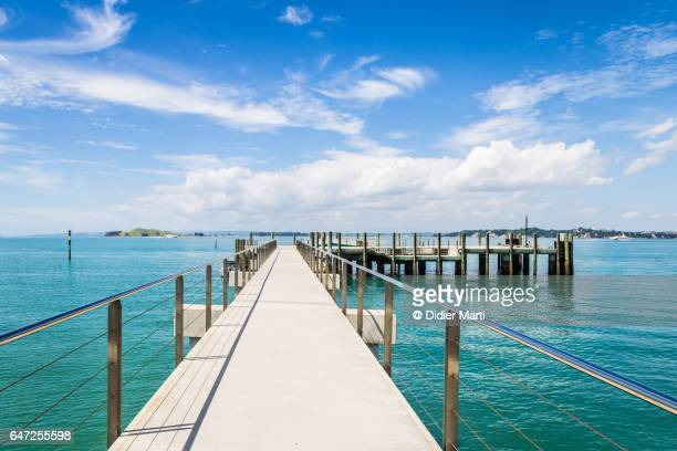 Jetty in the Rangitoto island near Auckland in New Zealand