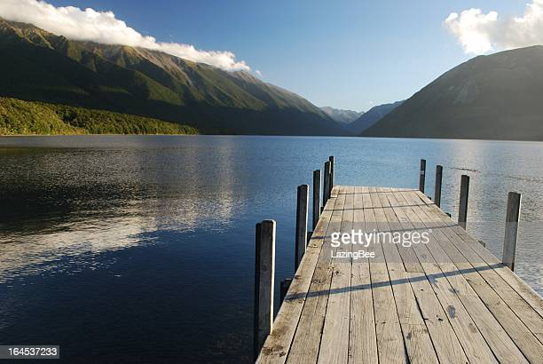 Jetty, Lake Rotoiti, Nelson Lakes National Park, NZ