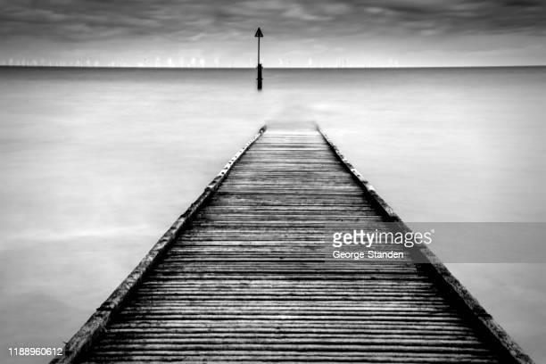 jetty llandudno - george wood stock pictures, royalty-free photos & images