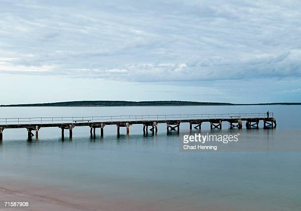 Jetty Over Pristine Waters