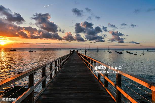 Jetty sunrise plage des dames,Noiremoutier,France